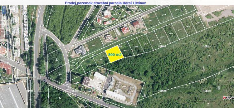 Prodej, pozemek, stavební parcela, 1077 m2, Horní Litvínov