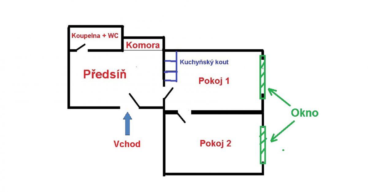 Pronájem bytu 2+´KK, 49 m2, Královské Vinohrady
