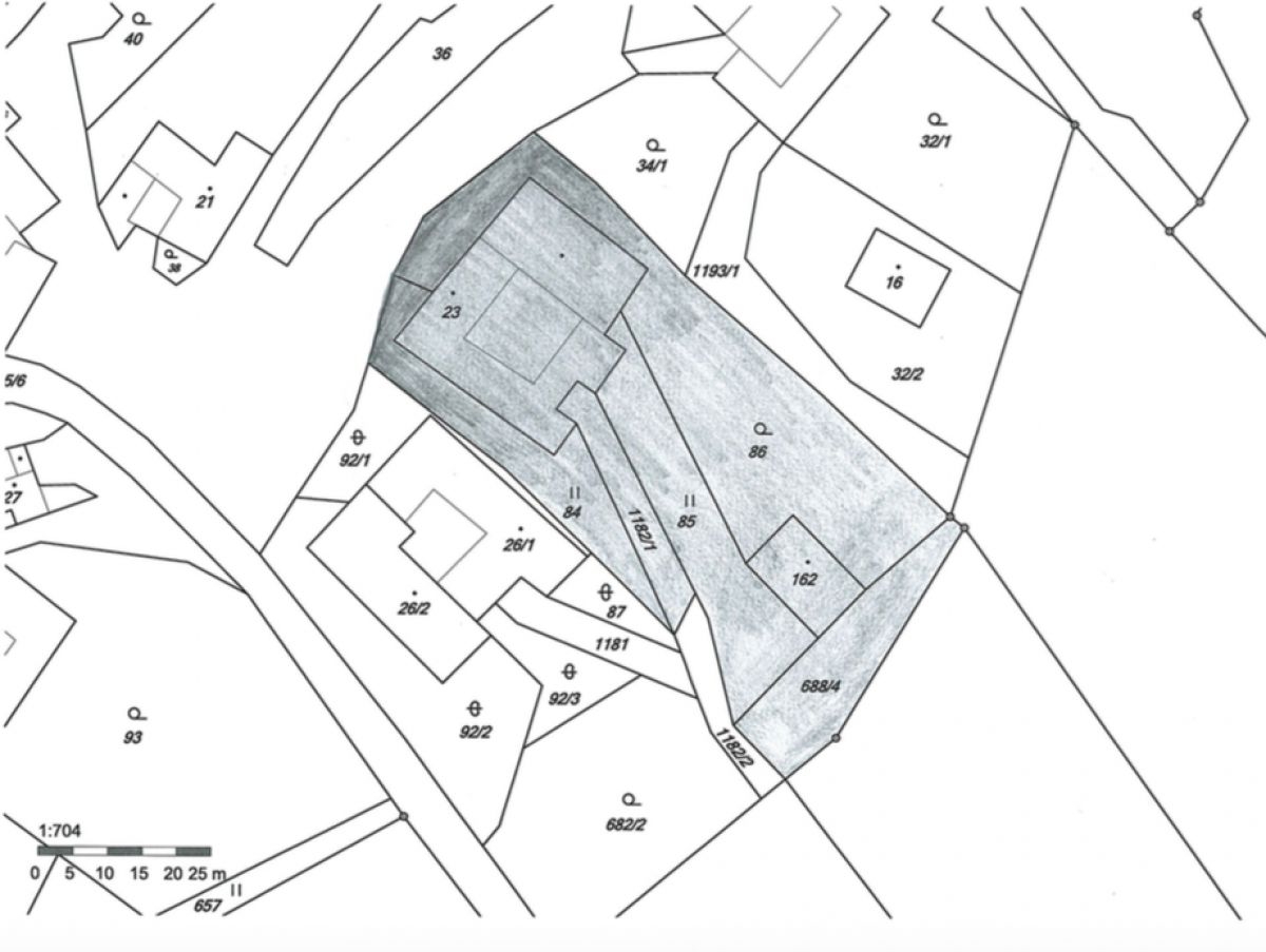 Prodej stavebního pozemku v Baníně (okr. Svitavy)