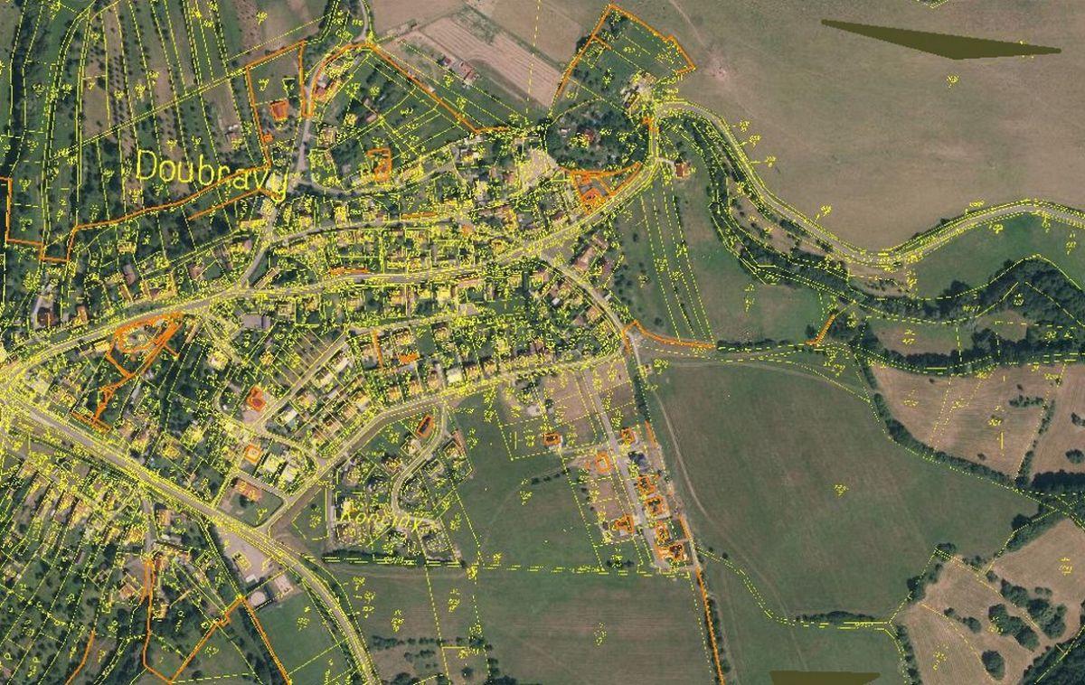 Prodej stavební pozemek, 1156m2, Doubravy