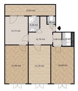 Prodej bytu 3+1 v osobním vlastnictví 117 m², Praha 10 - Vršovice 15