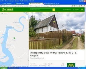 Prodáme chatu na Rabyni - cca 900 m od jezera 1