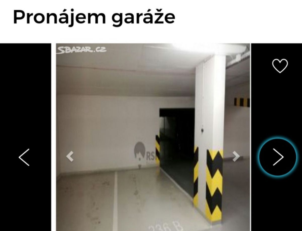 Pronájem garážové stání