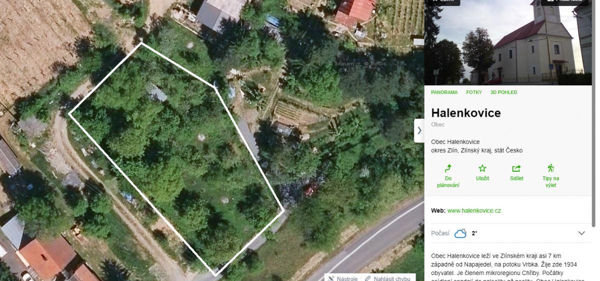 Prodám nebo vyměním pozemek Halenkovice v k.ú.Spytihněv za pozemek Vsetín-Velké Karlovice