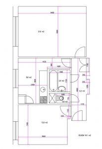 Prodej bytu 2+1 54 m2 v cihlovém domě v Plzni Skvrňany 13