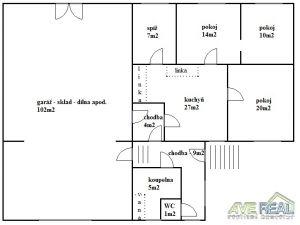 Prodej RD 3+1 (97m2) + garáž, dílna, sklad (102m2), pozemek 1.899m2, část obce Zaječice, obec Pyšely, okr. Benešov 2