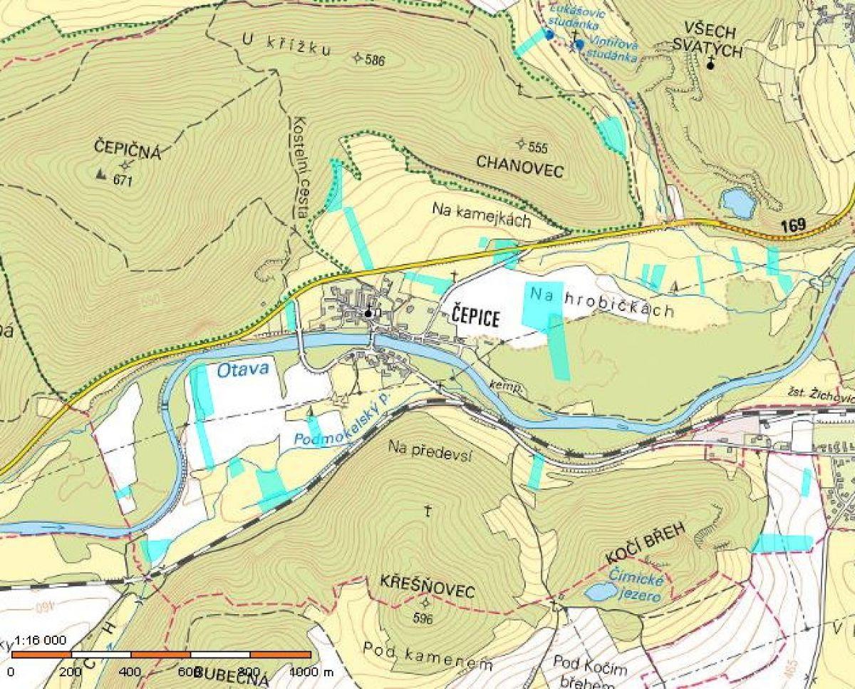Pozemky Rabí Čepice 120000m2