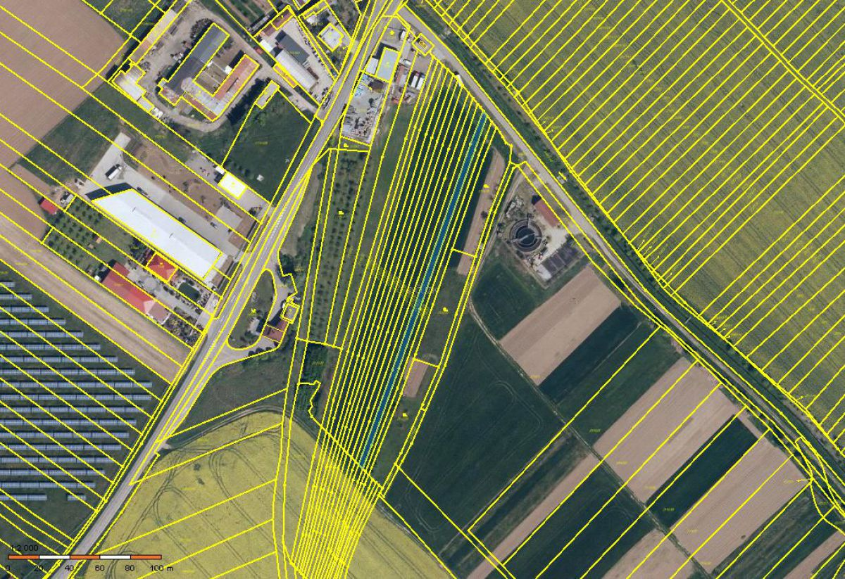 Polešovice okr. UH prodej pozemků orná půda 3.878 m2
