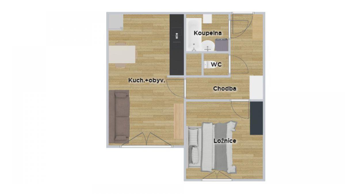 Pronájem bytu 2kk Bohunice