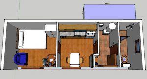 Luxusní soběstačný, mobilní domek 1+1 ihned k bydlení 2