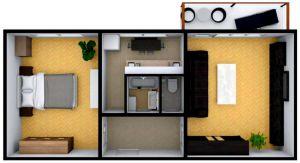 Prodej slunného bytu 2+1 s balkónem v OV 3