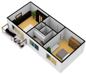 Prodej slunného bytu 2+1 s balkónem v OV 8