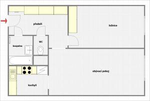 Prodeji bytu 2+kk, 45 m2, (OV) v Praha 8  ul. Poznaňská. 3