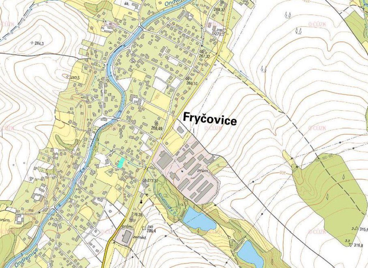Nemovité věci (pozemky) zapsané na LV č. 278, katastrální území Fryčovice