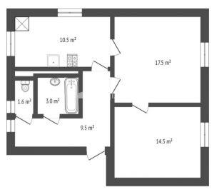 Prodej bytu 2+1, 57 m², ul. Gen.Píky, Kladno 7